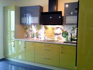 Panel szklany kuchenny, backsplash limonki wzór2